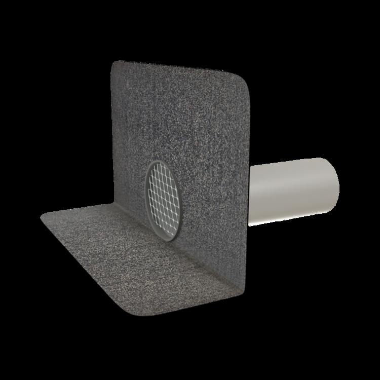 Круглая парапетная воронка с приваренным битумным фартуком