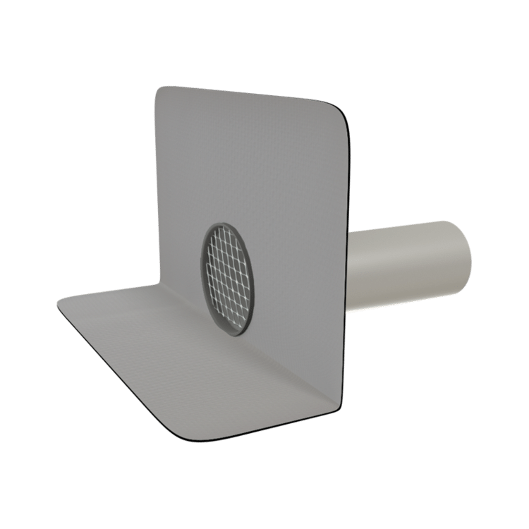 Кругла парапетна воронка з привареним фартухом із ПВХ-мембрани