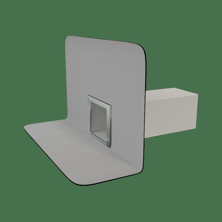 Парапетна воронка квадратного перетину з привареним фартухом із ПВХ-мембрани