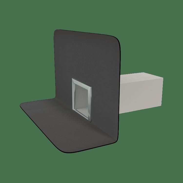 Парапетна воронка квадратного перетину з привареним оригінальним фартухом