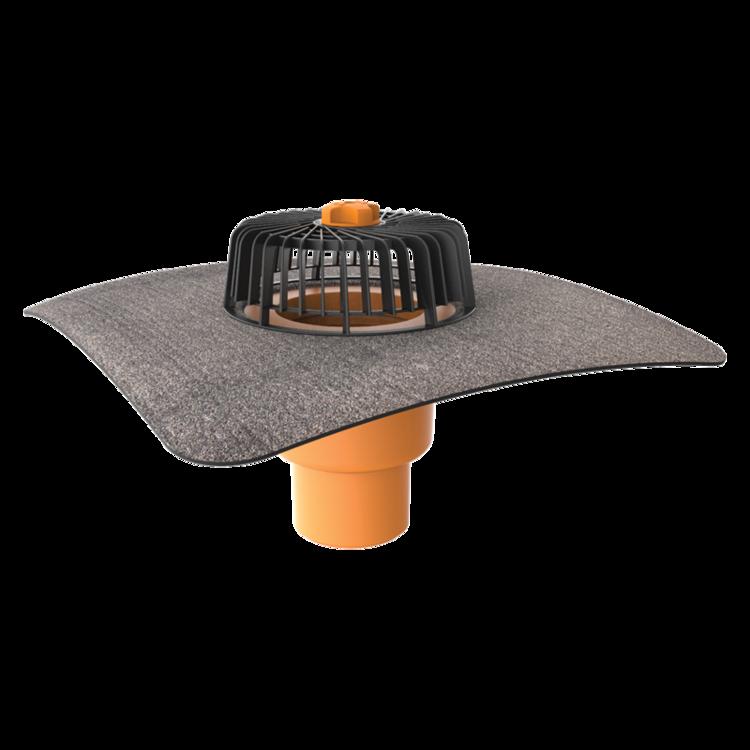 Покрівельна воронка вертикальна з привареним бітумним фартухом