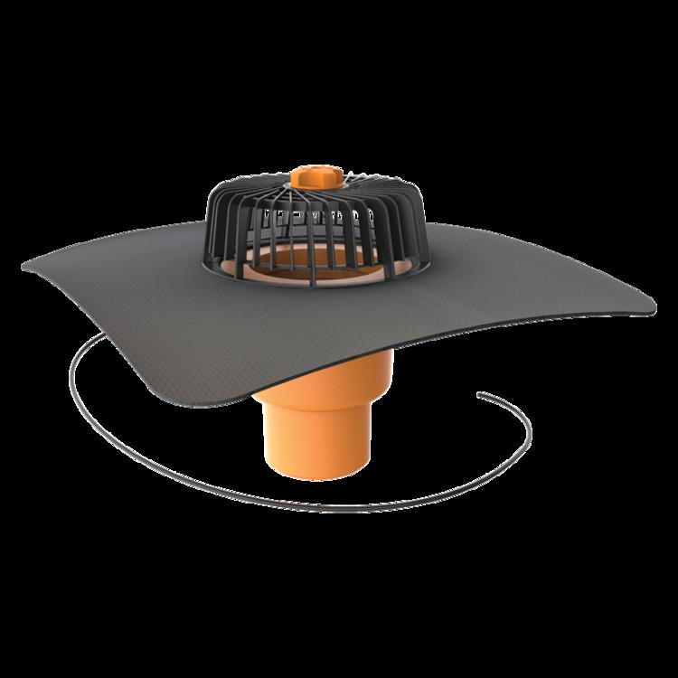 Покрівельна воронка вертикальна з підігрівом і привареним оригінальним фартухом