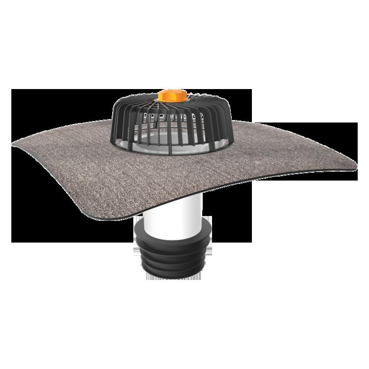 Ремонтна воронка з привареним бітумним фартухом для покрівель без теплоізоляції