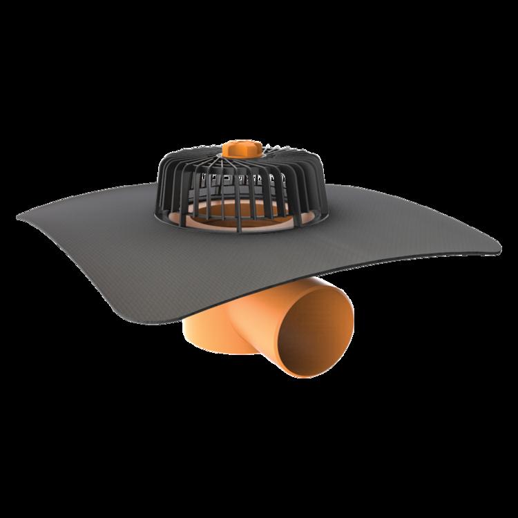 Покрівельна воронка горизонтальна з привареним оригінальним фартухом