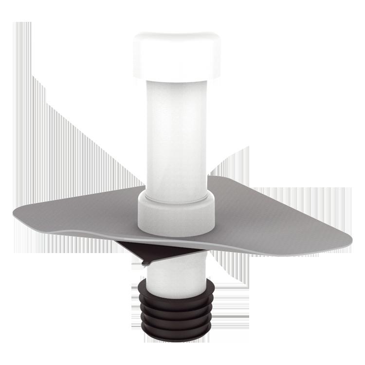 Ремонтний вентиляційний вихід з привареним фартухом із ПВХ-мембрани