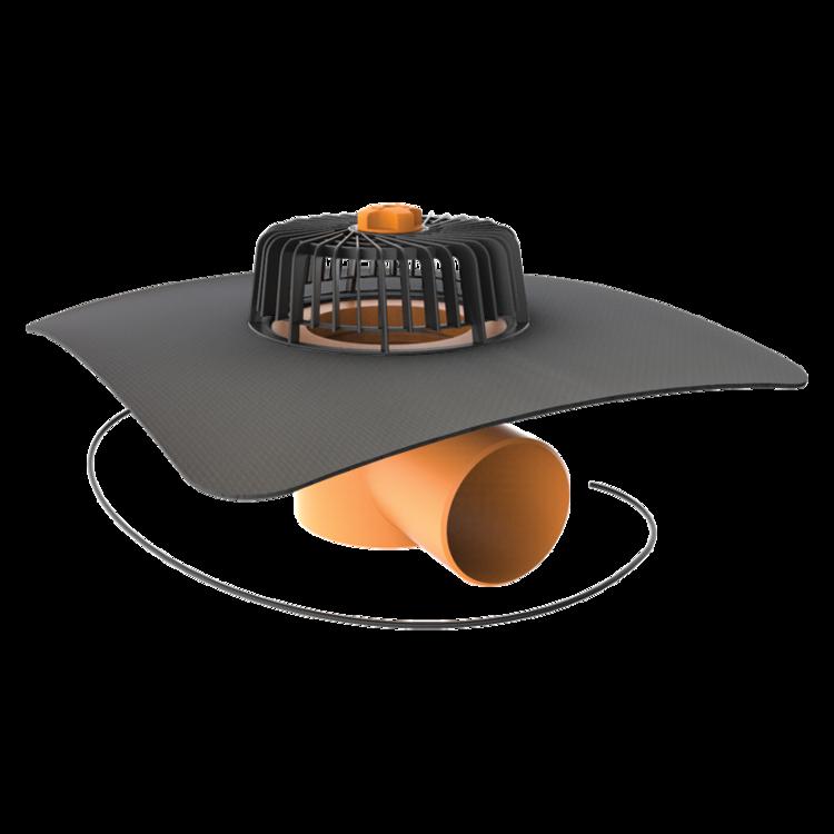 Покрівельна воронка горизонтальна з підігрівом і привареним оригінальним фартухом