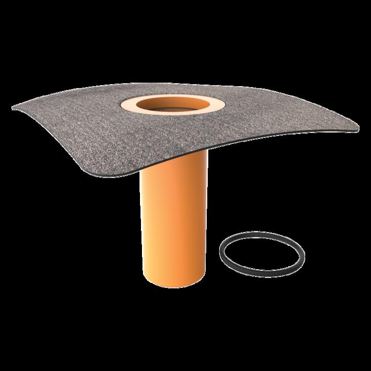 Надставний елемент для покрівельних воронок з привареним бітумним фартухом