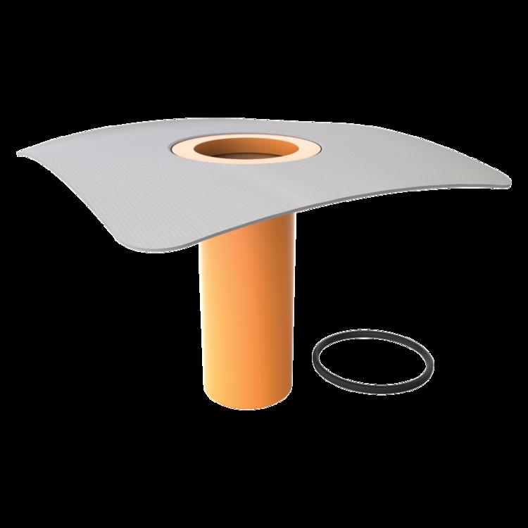 Надставний елемент для покрівельних воронок з привареним фартухом із ПВХ-мембрани