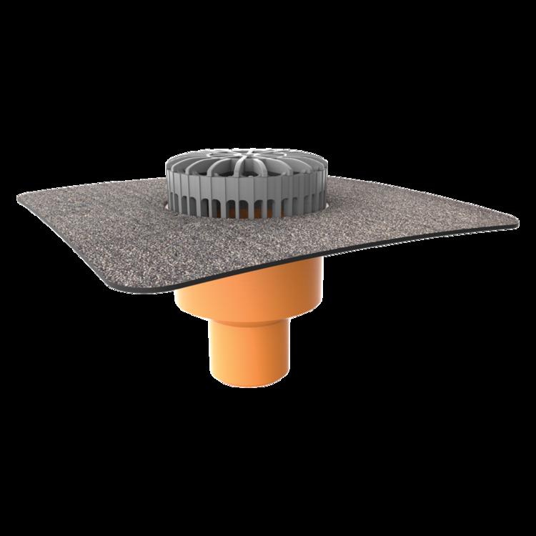 Терасна воронка вертикальна з привареним бітумним фартухом