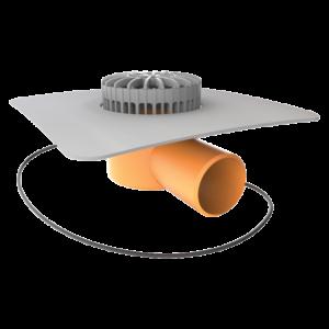 Террасная воронка горизонтальная с подогревом с приваренным фартуком из ПВХ-мембраны