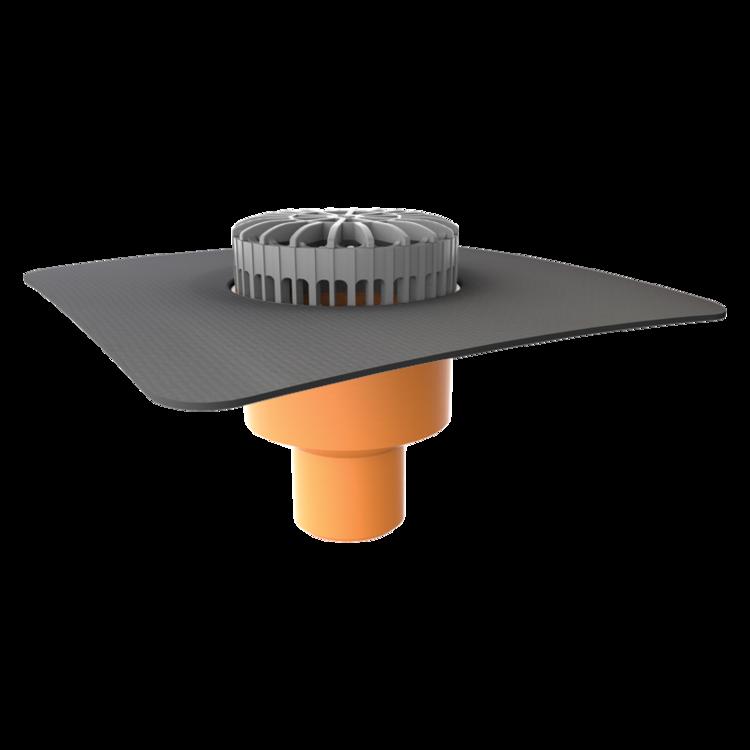 Терасна воронка вертикальна з привареним оригінальним фартухом
