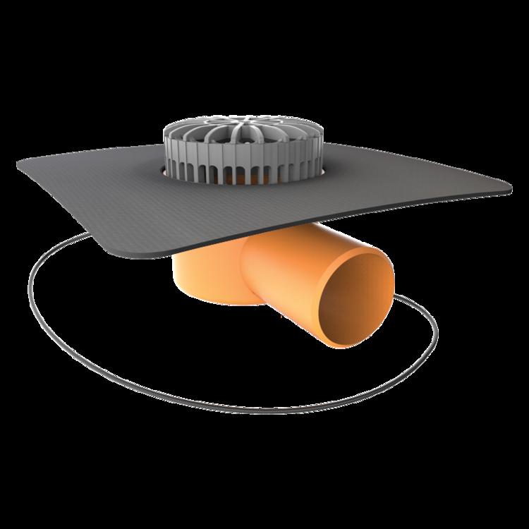 Терасна воронка горизонтальна з підігрівом і привареним оригінальним фартухом
