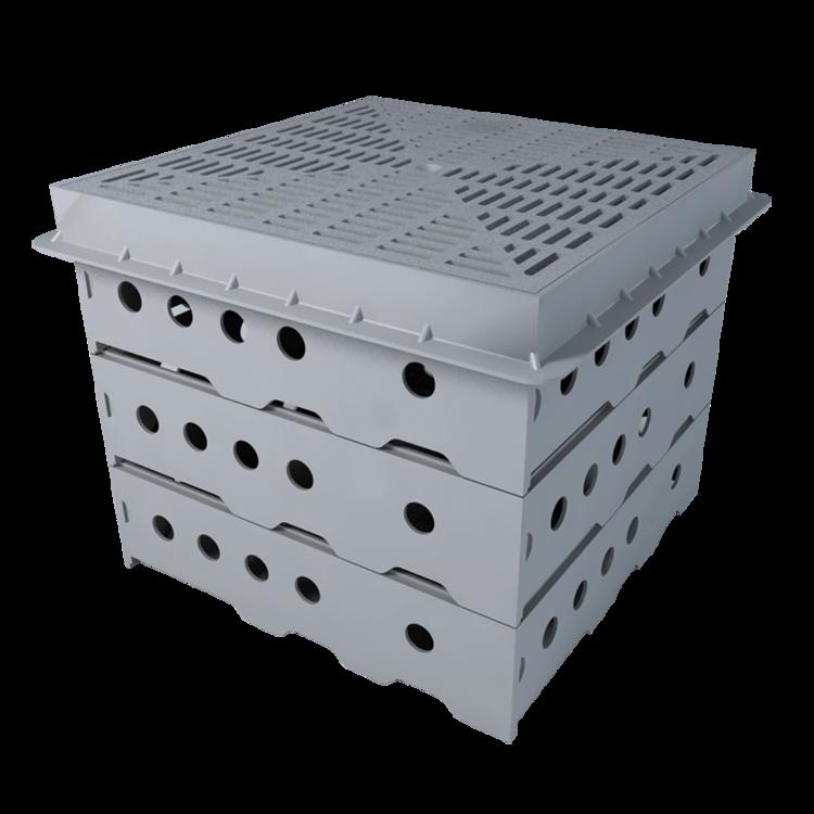 Короб для зелених та баластних покрівель, висота 330 мм