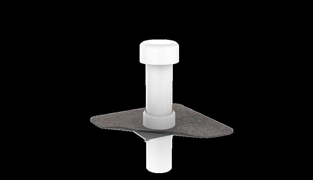 Канализационный стояк с битумным фартуком