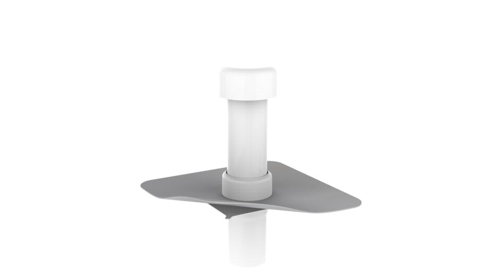 Канализационный стояк с фартуком из ПВХ-мембраны