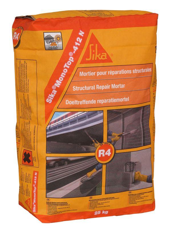 Sika MonoTop-412 N, раствор для ремонта бетона, класс R4