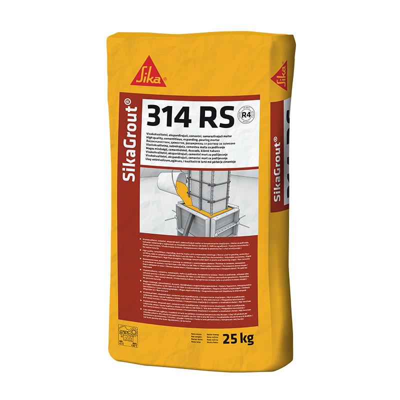 SikaGrout-314 RS, высокопрочный безусадочный раствор на основе цемента и натуральных наполнителей