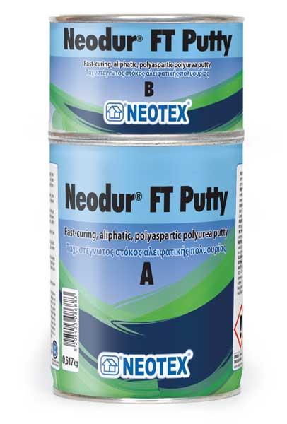Neodur FT Putty, швидковисихаюча шпаклівка на основі аліфатичної полісечовини