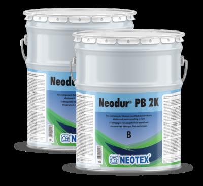 Neodur PB 2К, двухкомпонентное эластомерное гидроизоляционное полиуретан-битумное покрытие