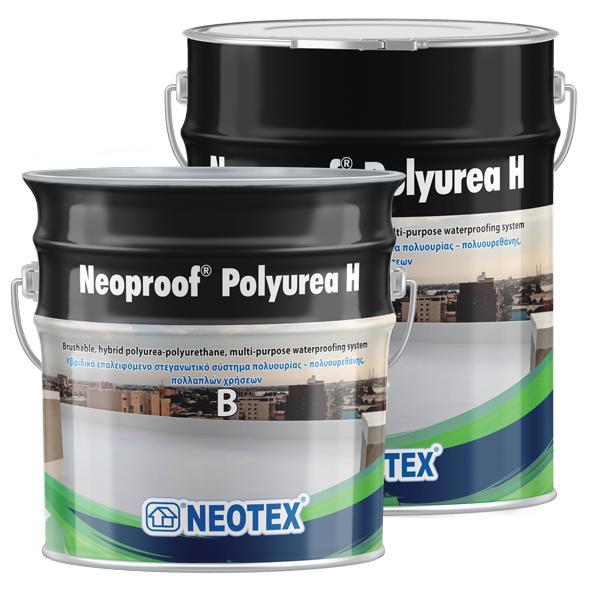Neoproof Polyurea H, гідроізоляційне покриття ручного нанесення, на основі полісечовини та поліуретану